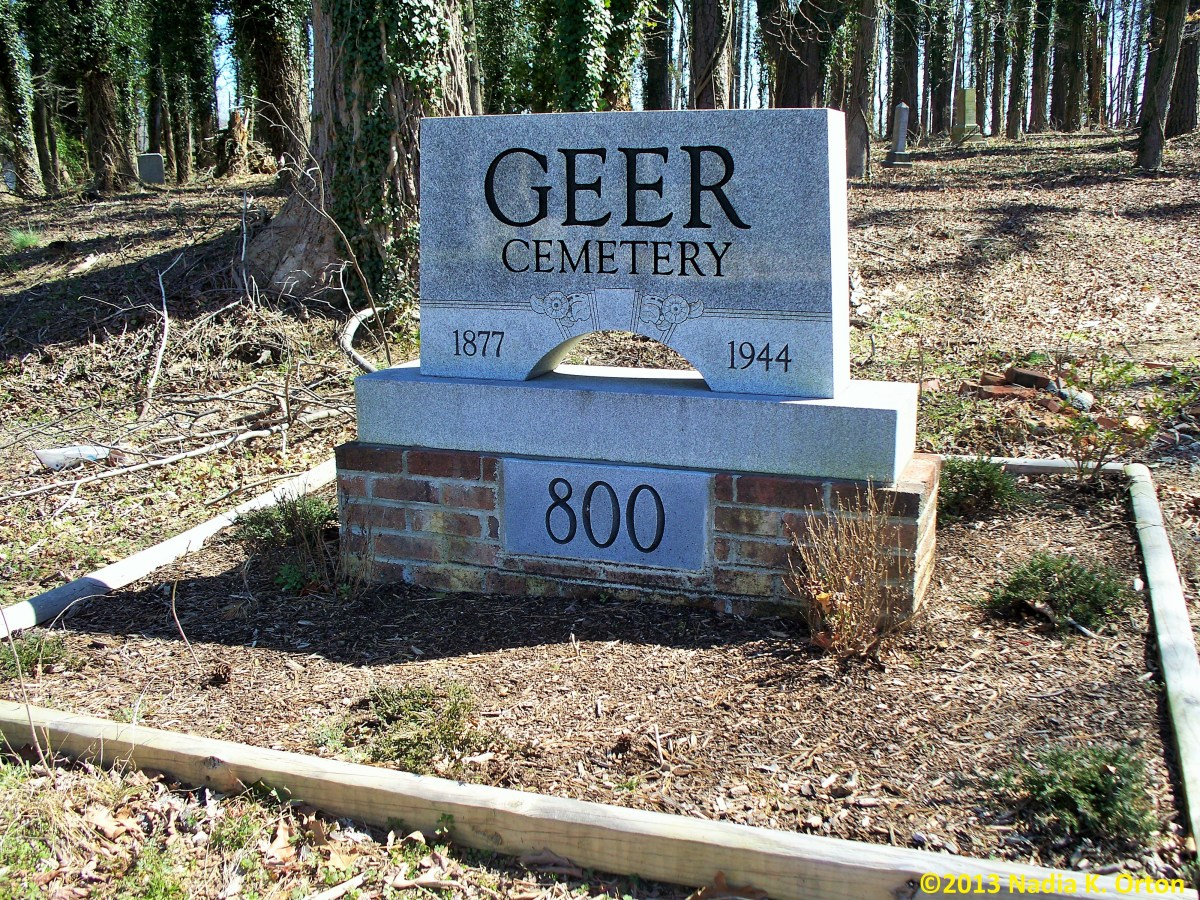 Durham County, North Carolina: Geer Cemetery, Durham