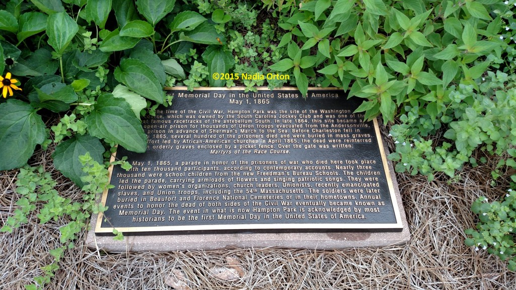 First Memorial Day plaque Charleston SC Copyright Nadia Orton 2015