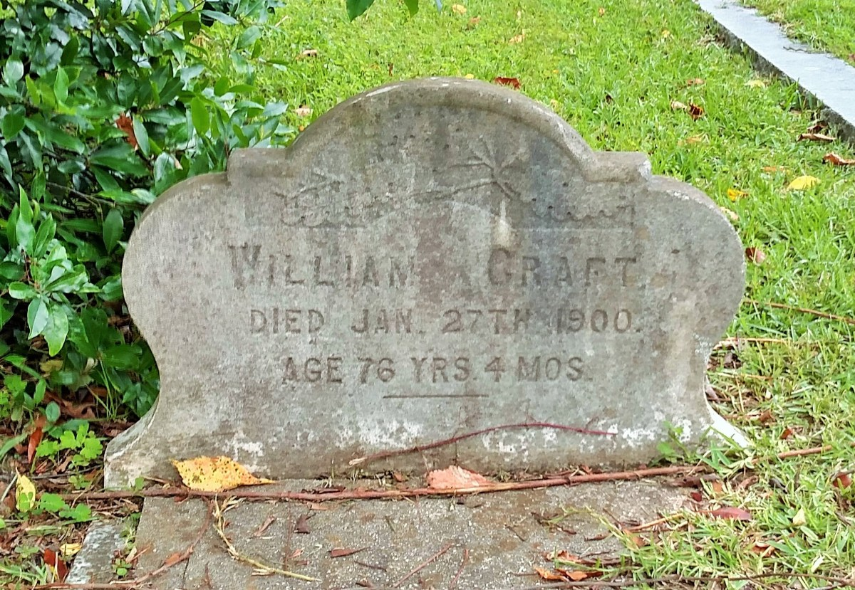 Charleston, South Carolina: The grave of abolitionist William Craft