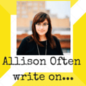 Allison Often write on... (1)
