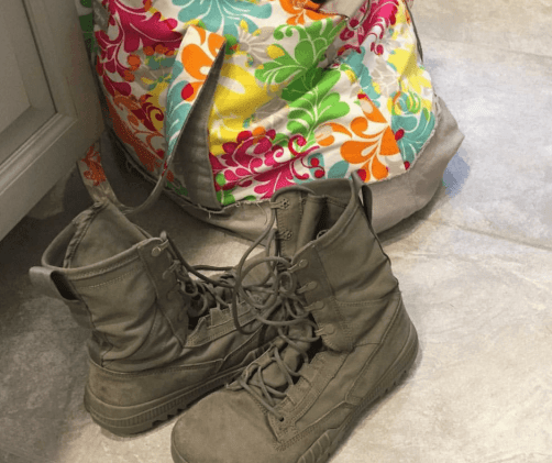 boots in the house Rebecca Huff that organic mom