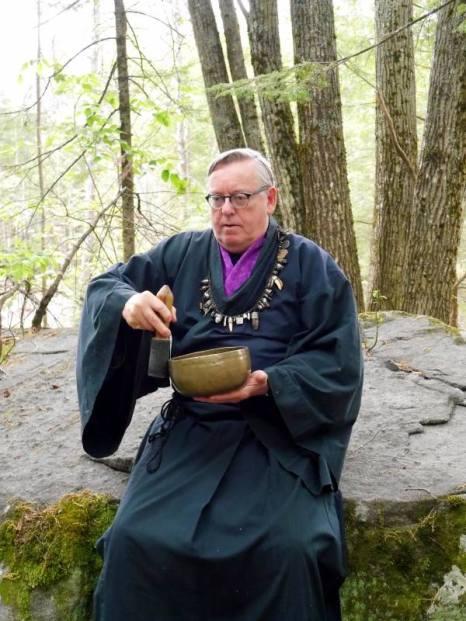 Calen Rayne with Himalayan Singing Bowl