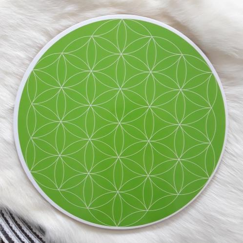Heart Chakra Flower of Life Crystal grid