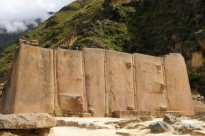 Peru, Ollantaytambo - Inca fortress in the sacred valley in the Peruvian Andes