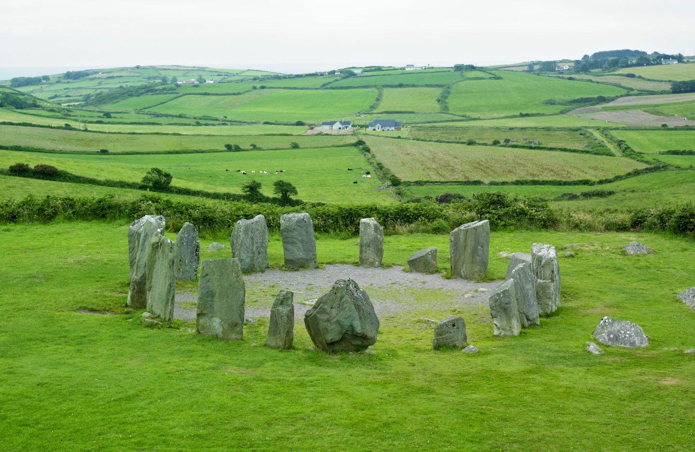 Drombeg Stone Circle in County Cork, Ireland
