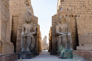 Travel the Sacred Sites of Egypt: Temple of Luxor - colossal statues inside temple