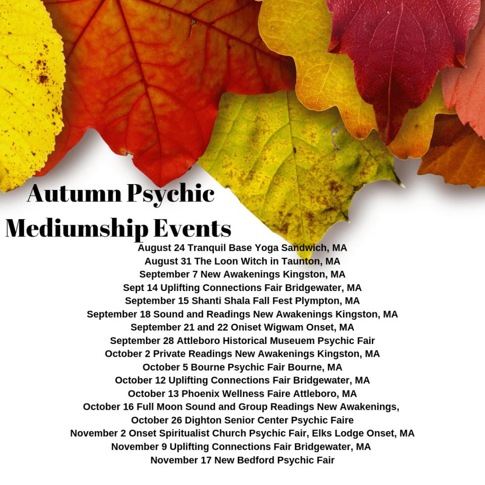 Autumn Mediumship events