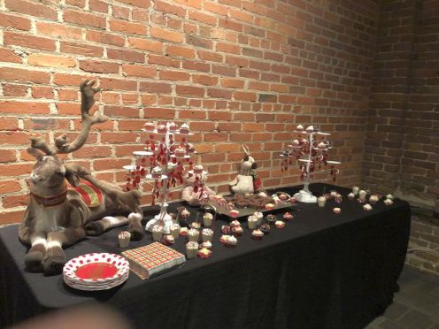 The desert table was an edible work of art.