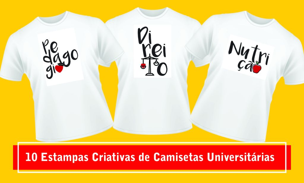 260d3f803 10 Estampas Criativas de Camisetas Universitárias Personalizadas