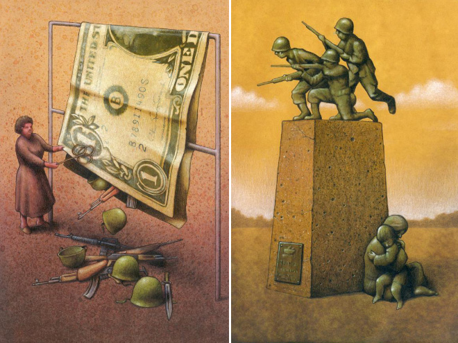 Brilliant Satirical Art By Pawel Kuczynski