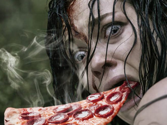 When horror movie scream meets hot pizza...
