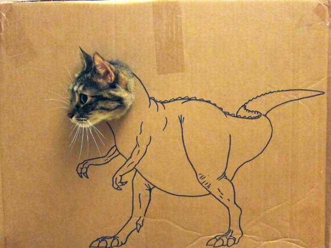 Cardboard cat dinosaurs are the best dinosaurs.