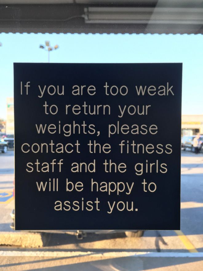 Passive-aggressive sign.