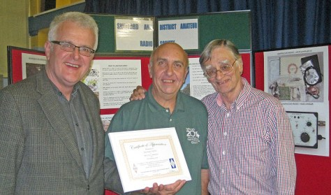 L to R, John Burnett, Club Secretary, Don Field, Victor Brand