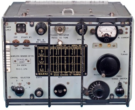 Wireless Sender No. 76 developed in 1943
