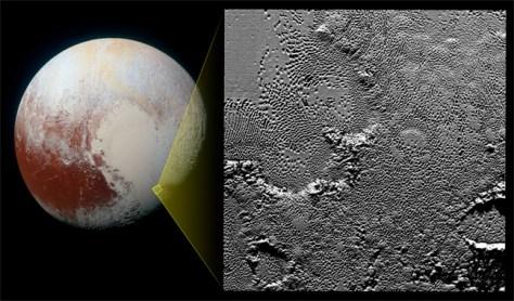 close up Pluto