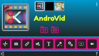 صورة أبسط محرر فيديو AndroVid Pro