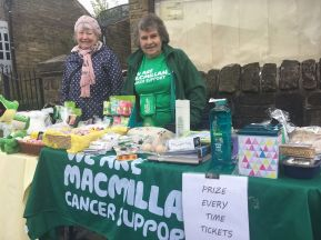 Anne Morris and Betty Tomlinson at the Macmillan stall