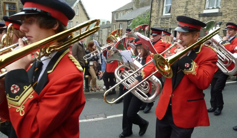 Bands march at Whit Friday