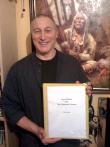 Allan Graham with his new book