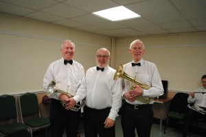 HORN SECTION: David Essex, Kevin Wadsworth and Ian Harper
