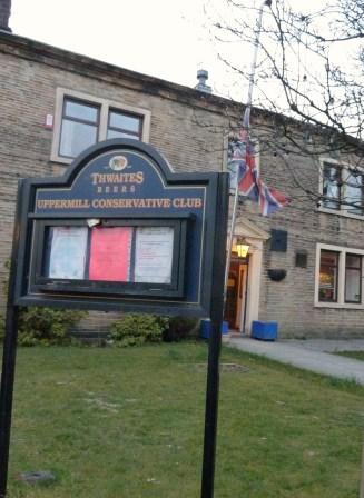 HALF-MAST: At Uppermill Conservative Club