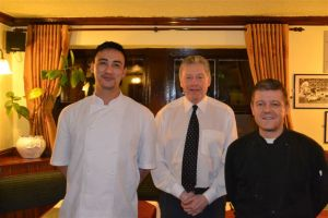 Anthony Byrom with landlord Ray Hicks and head chef Andrew McDonald