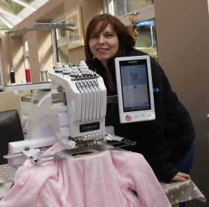 TALENTED: Beck working on one of her bespoke products