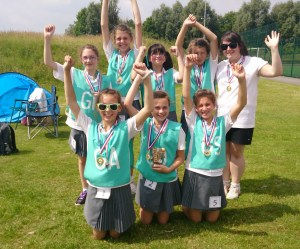NETBALL...the team from St Chads