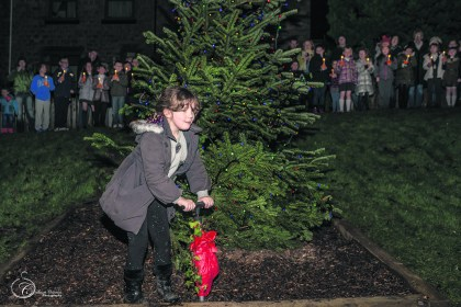 Kadence Maguire turned on the lights in Diggle (Picture thanks to Stuart Coleman)