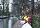 Volunteers venture out in all weather to keep towpaths tidy