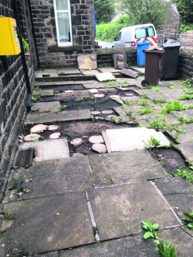 2437 Flagstone Theft - St Chad's, Uppermill