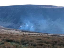Recent moorland fires at Saddleworth beauty spot