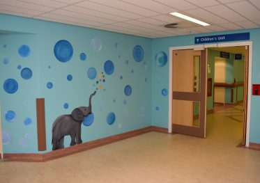 Artwork at entrace to ROH Childrens Ward_1