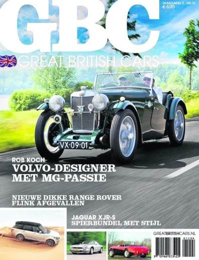 Car on front of Dutch magazine