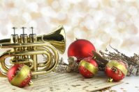 Christmas brass and voices in Uppermill
