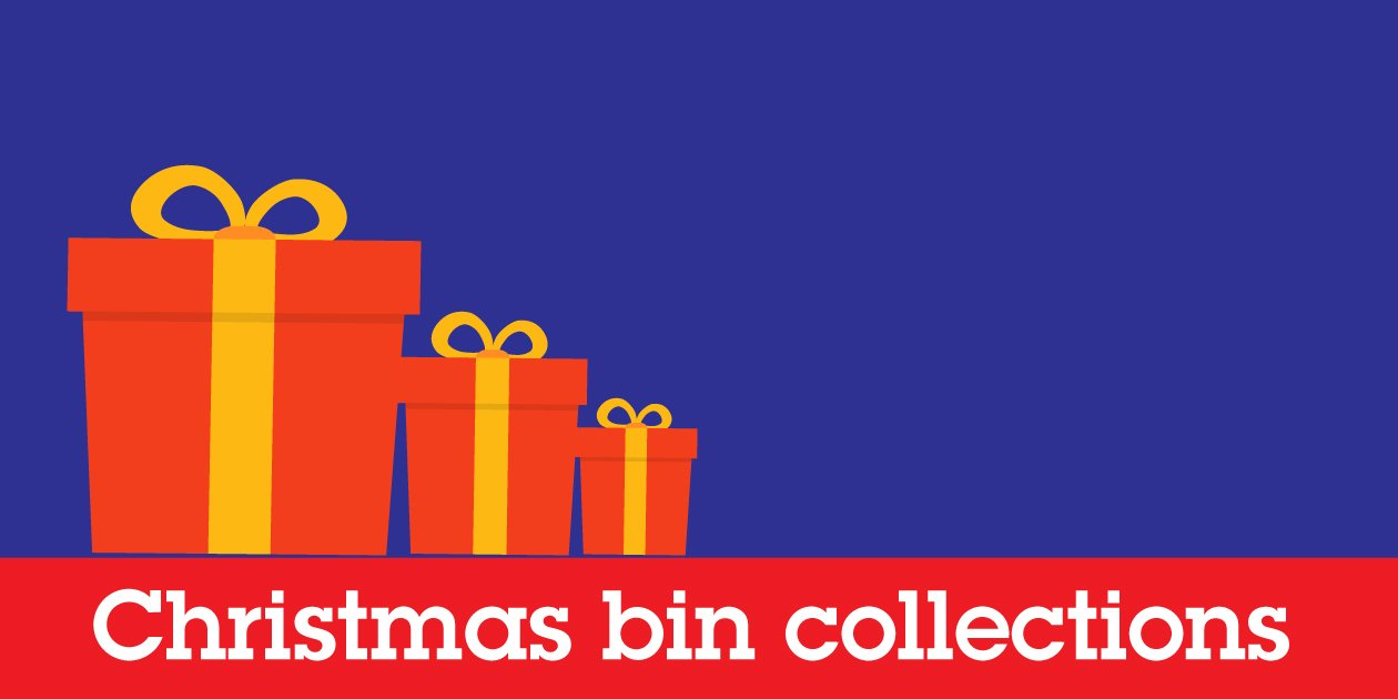 When are the Christmas bin collections for South Ribble?