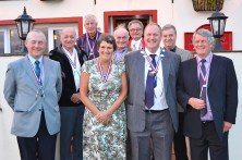 SUPPORT: Former mayors gathered for the ceremony. L-R: (front) Geoff Allen, Barbara Kinder, David Buckley, David Needham, (back) Barrie Robinson, Geoff Wood, Clarence Wood, Roger Fielding and Jerry Demaine