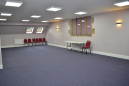 One of the new meeting rooms