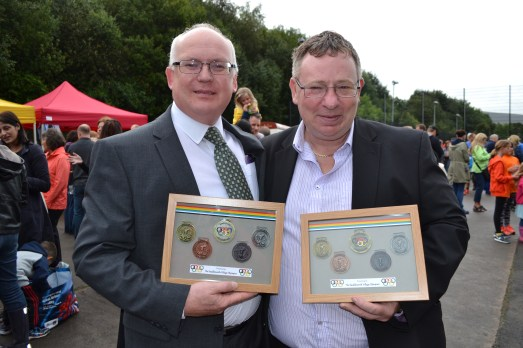 Commemorative souvenirs presented to special guests including Cllr Jamie Curley and Cllr Steve Hewitt