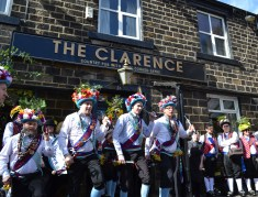 Earlsdon Morris Men dancing at The Clarence