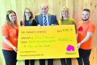 Roy's book raises £1,000 for Maggie's