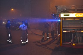 Firemen and engine