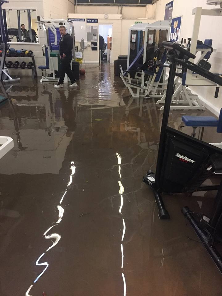 Flooded: Lifestyle Fitness Centre