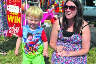Hugo (19 months old) and Claire Pook from Mossley