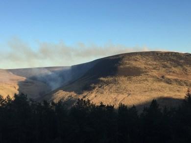 Dovestones Moor fire