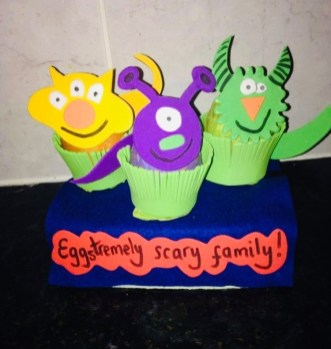 Kai (5) & Gabriella (9) brother & sister winners in Egg decorating competition2