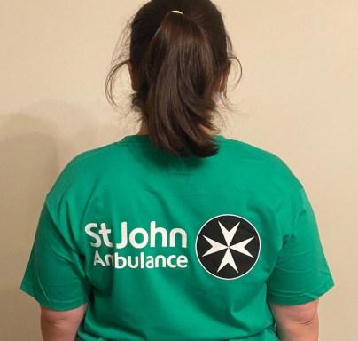Kate Foster OCL St John tee shirt