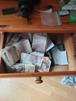 £10,000 in cash was seized during a flat search on Lincoln Gate, Manchester