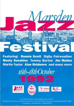Marsden Jazz Festival Poster 1992